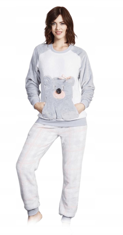 843960d1e4d7c2 Piżama damska polar soft- Miś - Świat Piżam & Strojów Kąpielowych